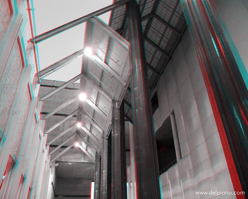 3D stereo Anaglyphs of abstract architectural situations