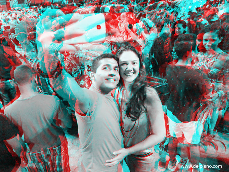 3D stereo Anaglyphs of people