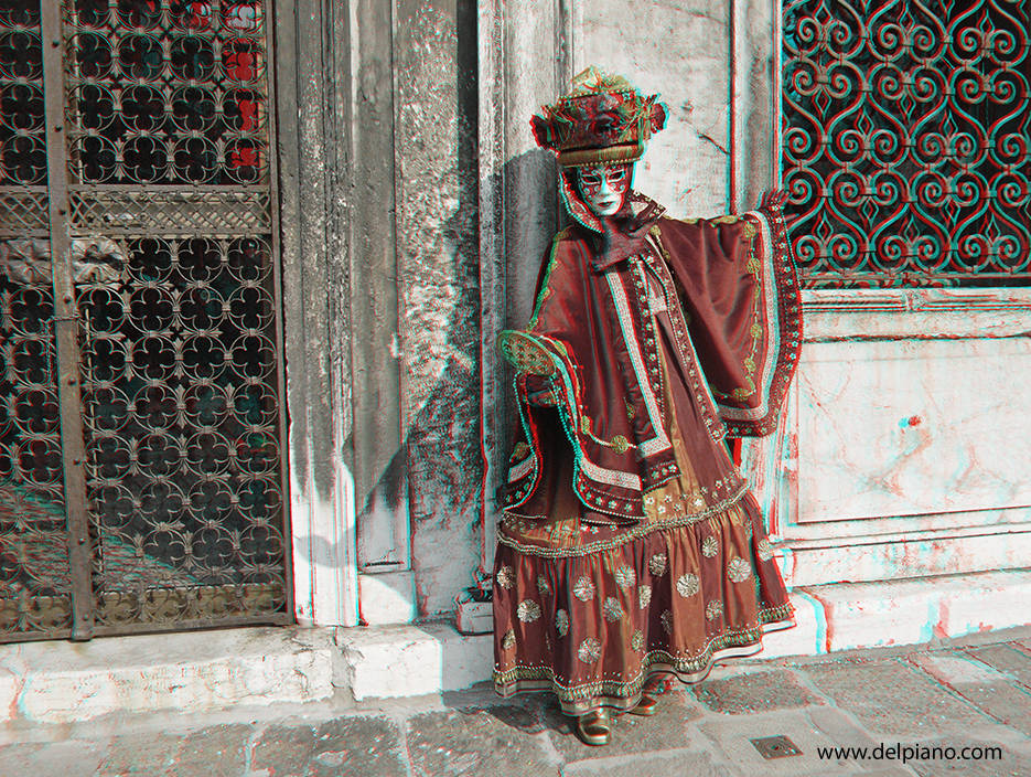 3D stereo Anaglyphs of Venice Carnival masks