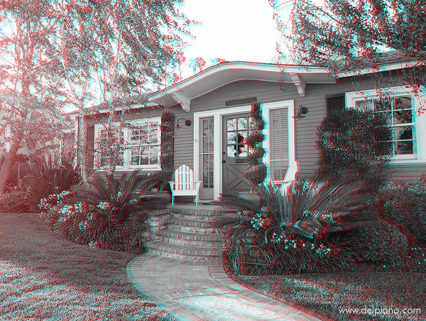 3D stereo Anaglyphs of Californian Homes and California Lifestyle