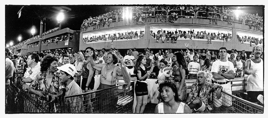 Public rooting for their Samba School in the Rio Sambodrome